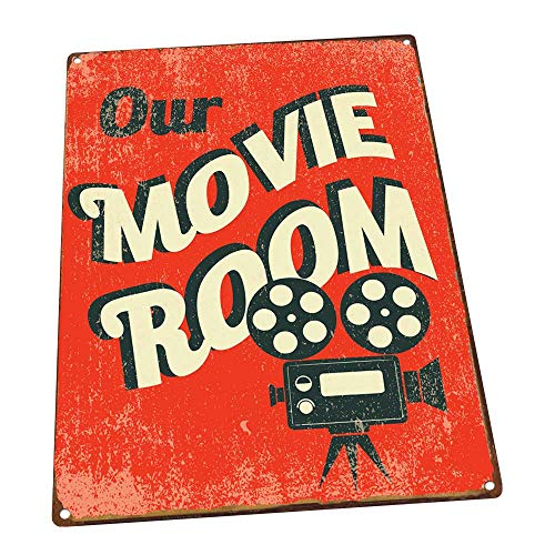 - Our Movie Room Metal Sign, Den Décor, Home Theater, Home Cinema, Den Décor