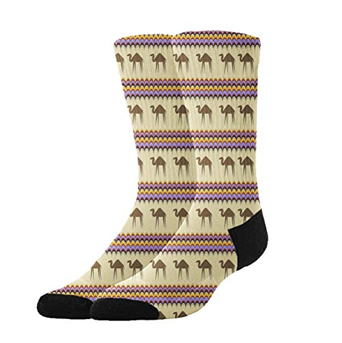 YEAHSPACE Dress Socks Desert Camel Soft Colorful Fun Pattern Crew Socks Gift for X-mas,Holiday, -
