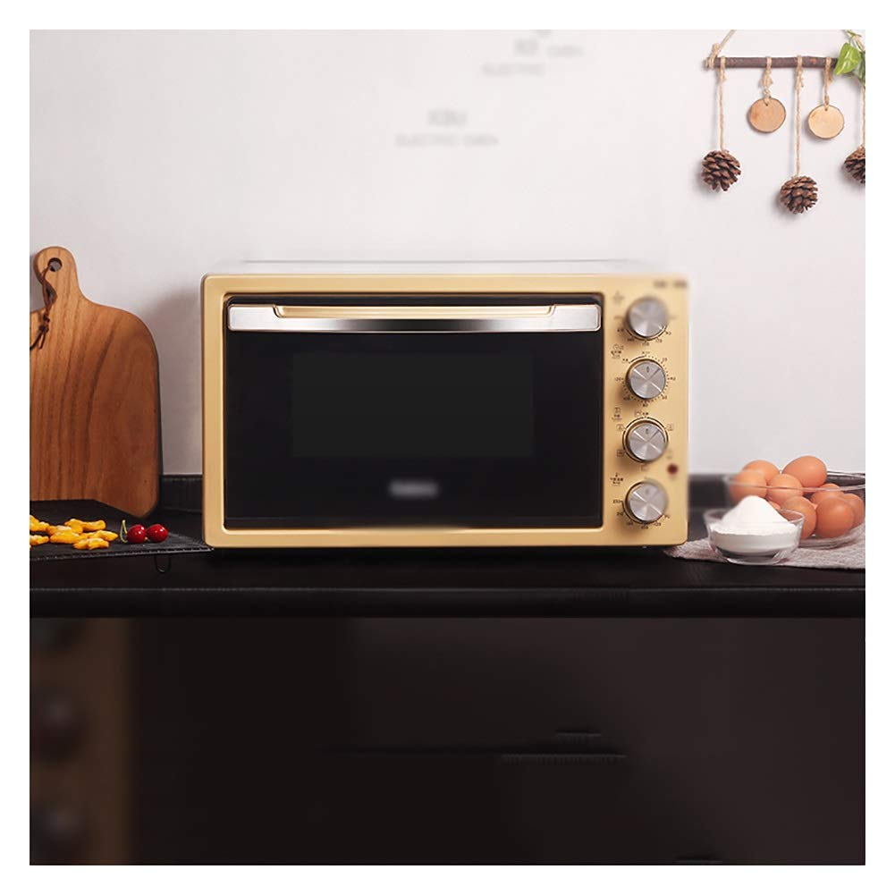 HATHOR-23 Ovens-Mini Oven With Grill 2000W Electric Oven With Double Hotplate,able Top Cooker With Multiple Preset Functions,gold