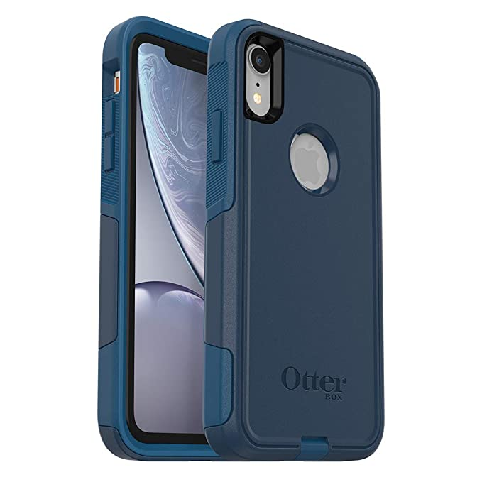 brand new 3fb05 326af OtterBox Commuter Series Case for iPhone XR - Retail Packaging - Bespoke  Way (Blazer Blue/Stormy SEAS Blue)