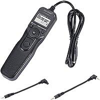 Neewer Temporizador de Disparo de Obturador Cable Control Remoto para Canon EOS 550D/Rebel T2I, 450D/XSI, 400D/XTI,...