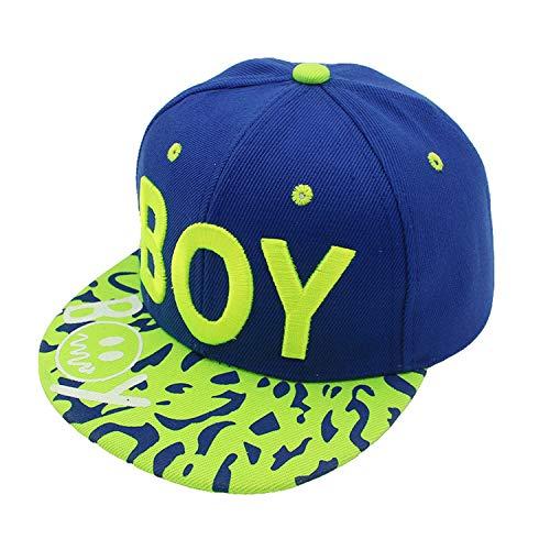 New Spring Summer Baby 3D Letter Cap boy Adjustable Baseball Cap 3-8 Years Kids Snapback Hip-Hop Hats Sun Hat Blue