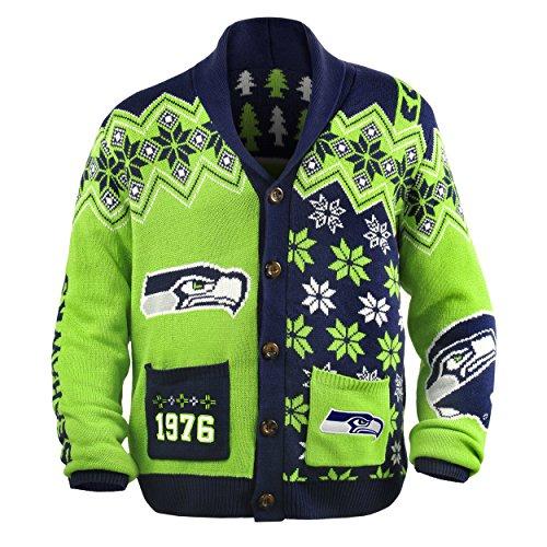 Seattle Seahawks Nfl Adult Ugly Cardigan Sweater Buy Online In Ksa