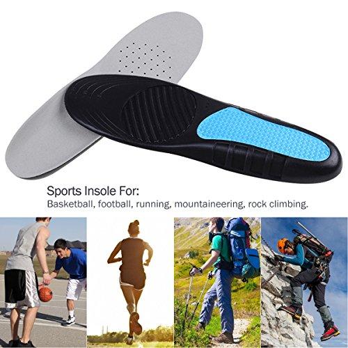 OULII Weiche Silikon-Gel-Einlegesohlen Comfort Schuh-Einsatz für Männer und Frauen (grau)