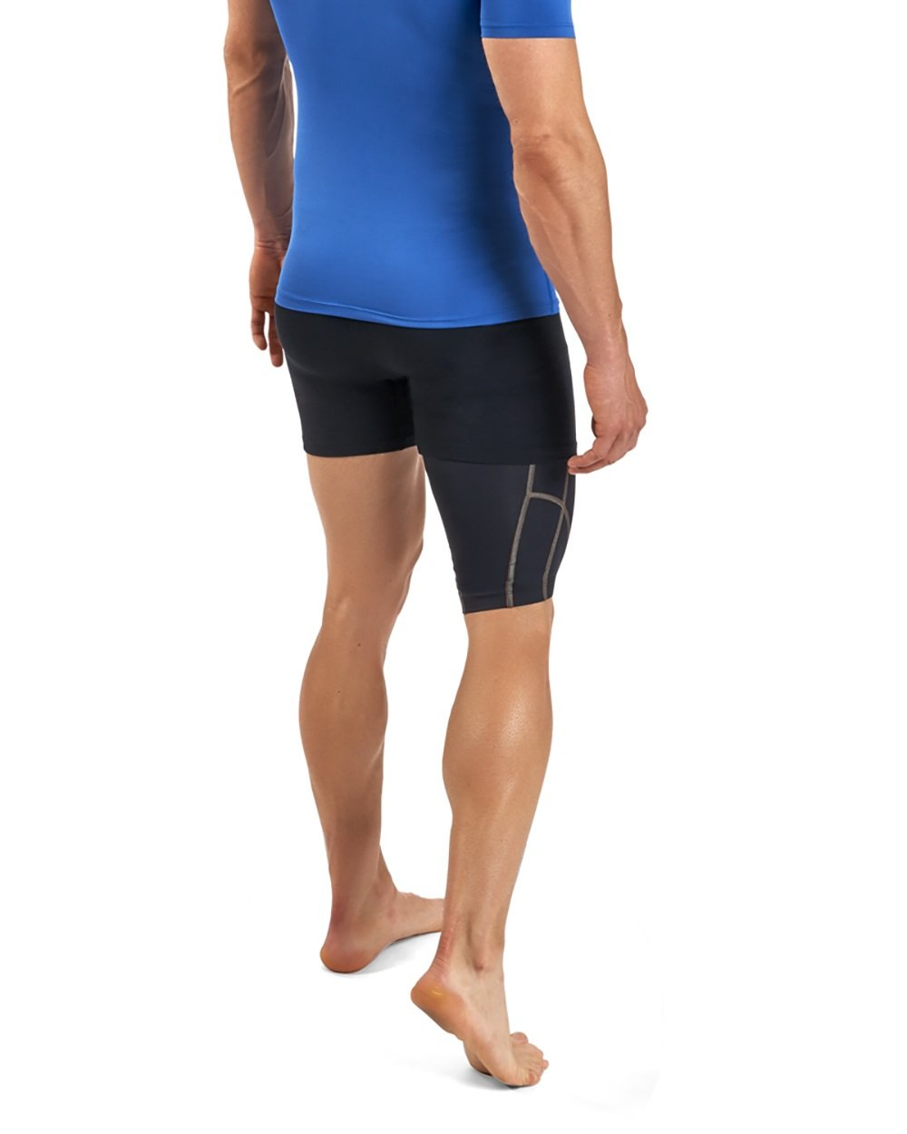 Tommie Copper Men's Performance Quad Sleeves 2.0, Small, Black by Tommie Copper (Image #3)