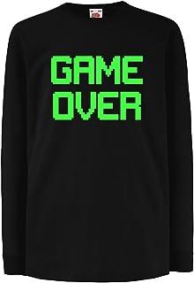lepni.me Kinder-T-Shirt mit Langen Ärmeln Spiel über lustige Gamergeschenke VACOM E-COMMERCE LLP