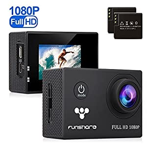Underwater Action Camera By Funshare, Waterproof Sports Camera for Swimming, Cycling and Snorkelling, HD 1080P 12 Mega Pixels Resolution 170° Angle Lens Mountable Durable Batteries