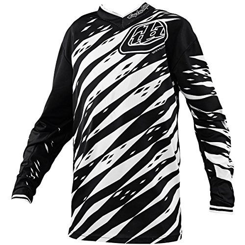 Troy Lee Designs GP Vert Boys Motocross/Dirt Bike Motorcycle Jersey – White/Black / X-Large