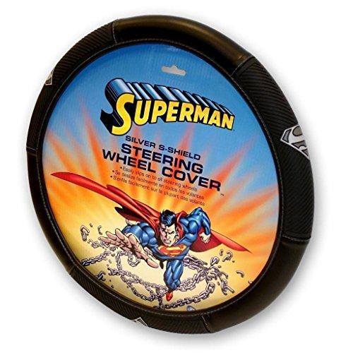 Plasticolor Superman Silver Shield Steering Wheel Cover ()