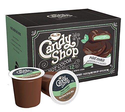 Candy Shop Hot Cocoa Cup, Mint Cookie, 12-0.53oz(15g) NET WET 6.35oz