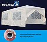 Peaktop® 20'x10′ Heavy Duty Outdoor Canopy Gazebo Party Wedding Tent Pavilion w/ 6 Removable Side Walls