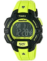 Timex Mens TW5M02500 Ironman Rugged 30 Neon Green Resin Strap Watch