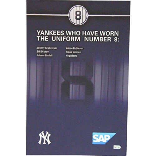 Yogi Berra Yankee Stadium Ny Suite Level Player History Number Sign #8 - Steiner Sports Certified - Game Used MLB Stadium Equipment