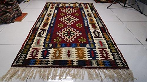 Turkish Kilim Vintage Rug Handwoven Kilim Rug Original Handmade Rug Handwoven Carpets Home Decoration Anatolian Rug Handwoven Rug