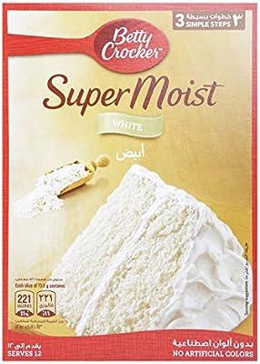 خليط الكيك سوبر مويست من بيتي كروكر لكيك اسفنجي ابيض 500 غرام Amazon Ae