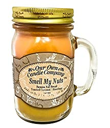 Our Own Candle Company Smell My Nuts Scented 13 Ounce Mason Jar Candle