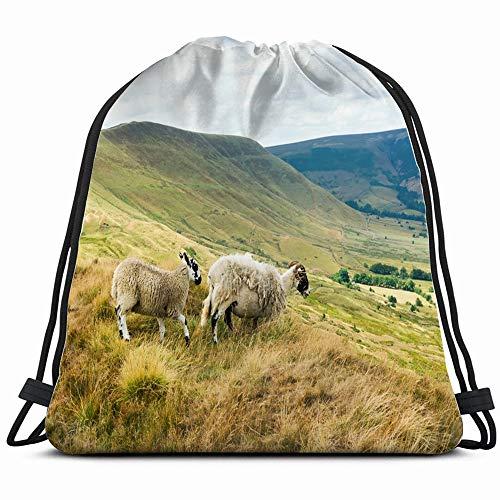 Peak District National Park Derbyshire England Parks Outdoor Drawstring Backpack Bag For Kids Boys Girls Teens Birthday, Gift String Bag Gym Cinch Sack For School And Party (Best Walks In Derbyshire Peak District)