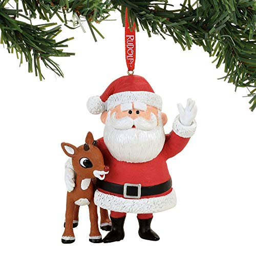 Department 56 Rudolph and Santa Hanging Ornament ()