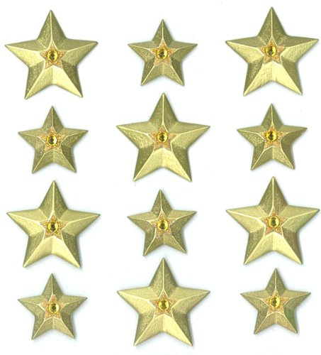 Jolee's Boutique Cabochons Dimensional Stickers, Gold Stars