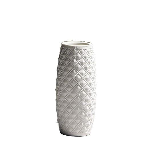 Cratone florero pequeño de cerámica Blanca con Textura de piña ...