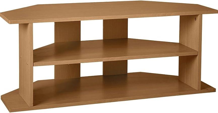 Mueble de esquina para TV grande, efecto de madera de roble: Amazon.es: Hogar