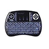 GBTIGER iPazzPort Wireless Mini Keyboard with Touchpad, Handheld Remote Control, 3 LED Backlit for PC, Xbox 360, PS4, Android TV Box, Smart TV