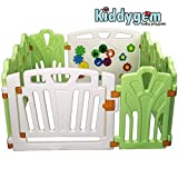 Puzzle and Beep Fun Baby Playpen, Kid Play Zone - 10 Panels (green) 12.69sq.ft, Green by KiddyGem