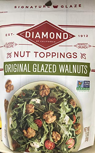 Diamond of California, Nut Toppings, Glazed Walnuts, 7.5oz Pouch (Pack of 3)
