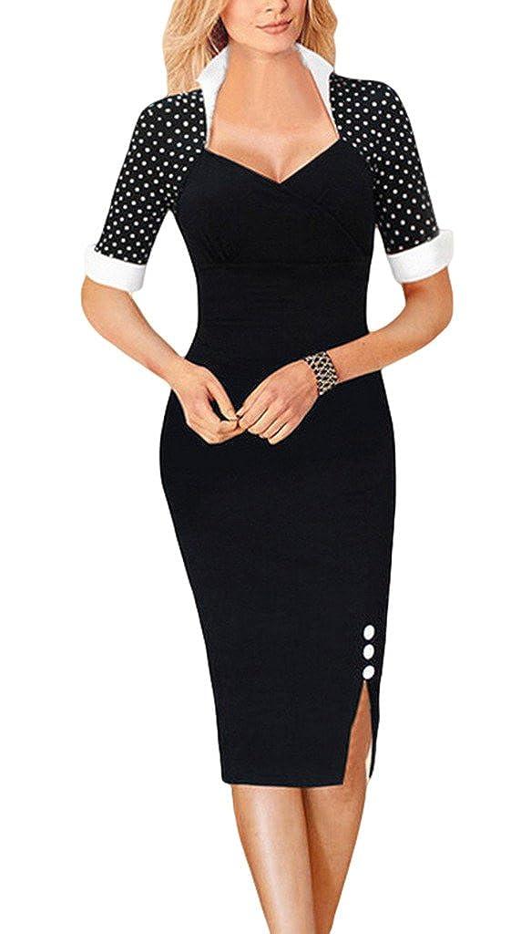 Xiang Ru Sommer Damen Bleistift Kleider Business kleid Bodycon Etuikleid Schlauch kleid Casual Cocktail Kurz /Ärmel