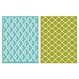 QUICKUTZ We R Memory Keepers Whimsy Embossing Folder, 2-Pack