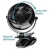OPOLAR Stroller Fan, USB or AA Battery Operated Desk Mini Personal Fan, One Setting, Clip on Fan for Treadmill, Office, Dorm, Home and Outdoor Disney Using-F711A
