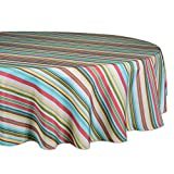 DII 100% Polyester, Spill proof and Waterproof, Machine Washable, Tablecloth for Outdoor Use, 60