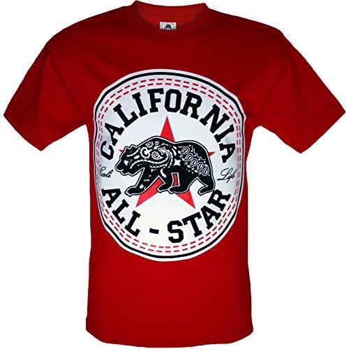 California All Star Mens Shirt Bandana Bear - Multiple Colors