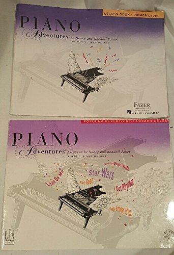 - Lot of 2 Primer Level Piano Adventures Books ~ Piano Adventures Popular Repertoire Primer Level, Piano Adventures Lesson Book Primer Level