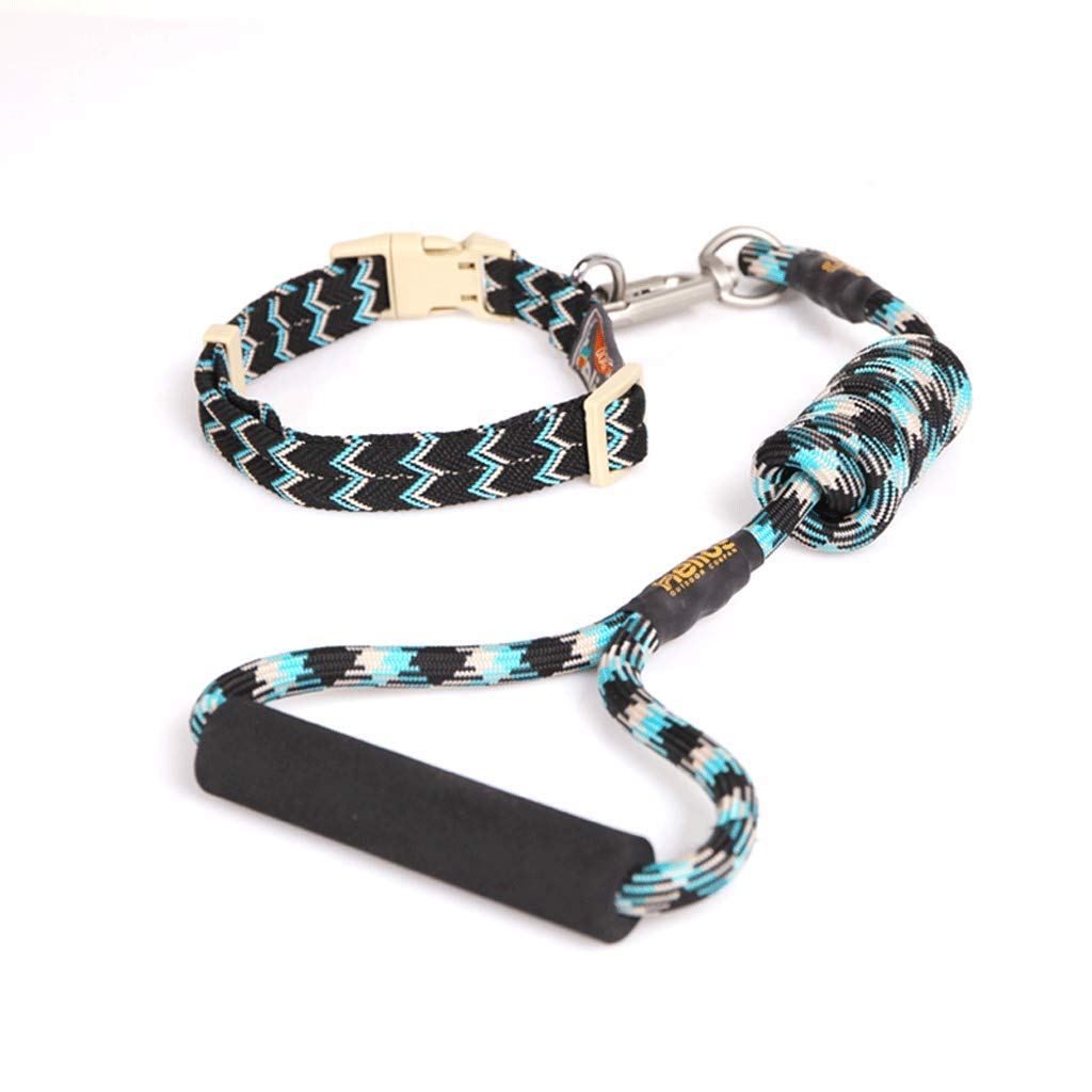CHenXy Pet Leash Climbing Rope Material Traction Dog Leash,Outdoor Series Dog Leash,Quality Nylon Weave,Nylon Long Dog Training Leash &&&&& (Color : Blue, Size : L) by CHenXy