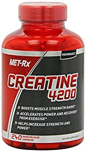 MET-Rx - Creatine 4200 for Strength & Power - 240 Capsules