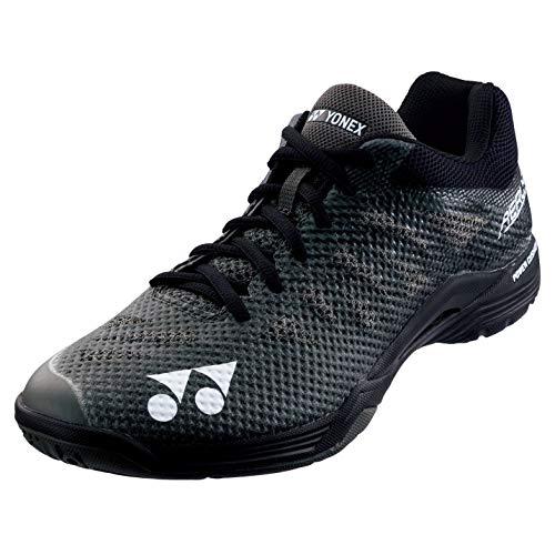 Badminton Shoes Yonex (Yonex Power Cushion Aerus 3 Mens Indoor Court Shoe (Black) (8))
