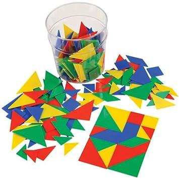 Tangrams - Educational Geometric Shapes - Classroom Set 210 Pieces (Grades  K-5)