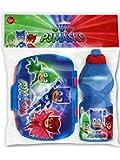 Joy Toy PJ Masks SUPERPIGIAMINI Set: PORTAMERENDA E Borraccia, Multicolore, Bambini 1
