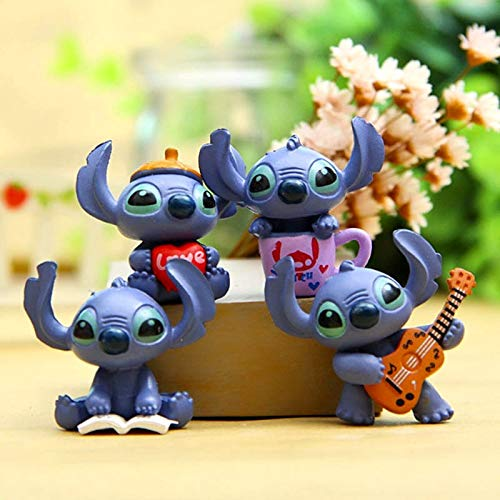 PAPRING Set 4 Lilo Toy 1.3 inch Stitch PVC Action Figure Movie Small Figures Hot Model Mini Gift Christmas Halloween Birthday Gifts Cute Doll Animal Decoration Collection Collectible for Kids Adults]()