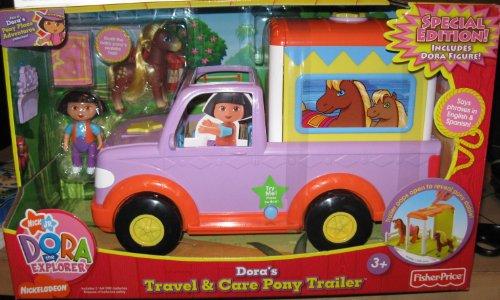 Dora The Explorer (Special Edition) TALKING Travel & Care Pony Trailer w/ Bonus Figures