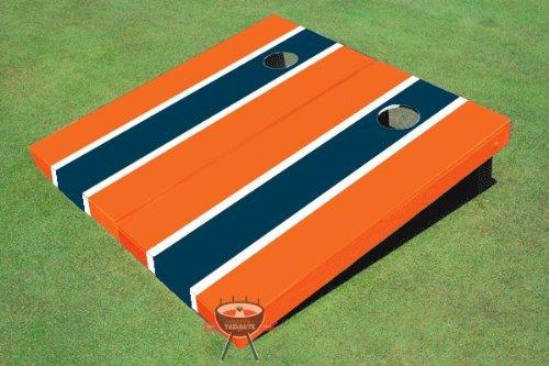 ネイビーとオレンジMatching LongストライプCorn穴ボードCornhole Game Game Set Set B00CLV8XVY, コリのことなら ほぐしや本舗:1da910e5 --- gamenavi.club