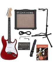 Rocktile Sphere Classic Guitare Électrique Rouge + École de Guitare