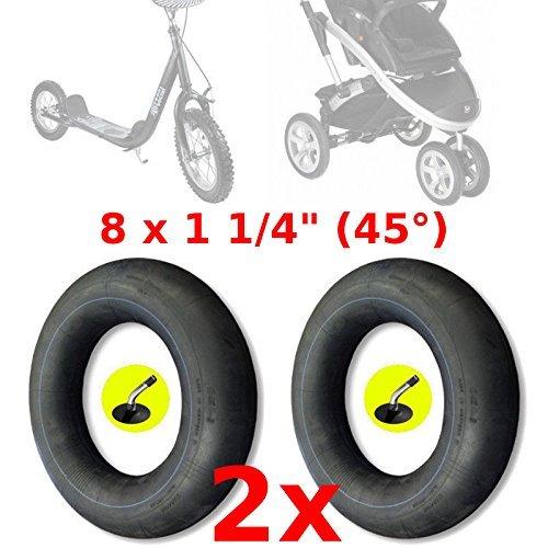 2x SCHLAUCH 8 x 1 1/4 ZOLL TRETROLLER KINDERWAGEN ROLLER CITYROLLER PRAM KINDER cyclingcolors