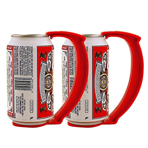 Cold Beer Instant - KegWorks Instant Beer Stein Can Grip Handle - Set of 2 for Beer or Soda Pop Cans