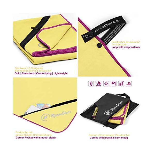 51GZ9X8Nl6L NirvanaShape ® Mikrofaser Handtücher   saugfähig, leicht, schnelltrocknend   Badehandtücher, Reisehandtücher…