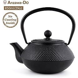 SUTEAS Tetsubin Cast Iron Teapot with Stainless Steel Infuser Japanese tea pot kettle 29oz 850ML