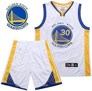 camisetas nba,Camiseta de Baloncesto para Hombre,Hombres y unisex baloncesto camiseta - ropa de verano de baloncesto de la NBA Warriors 30 Curry clásico Jersey-Avanzada bordado Camisa sin mangas y corto(TAMAÑO: S-XXL): Amazon.es: