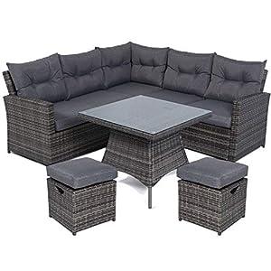 Mayfair Rattan 5-7 Seater Dining Corner Sofa Set