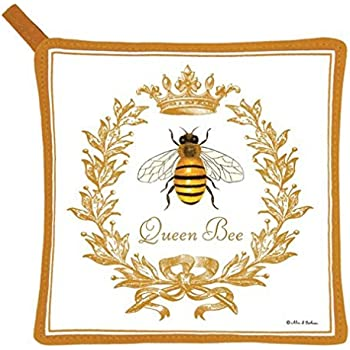 Alice's Cottage Queen Bee Cotton Pot Holder, New